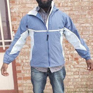Columbia windbreaker fleece jacket